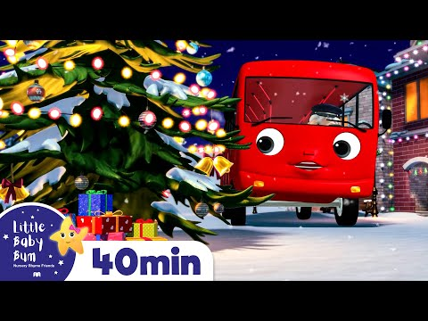 Wheels on The Bus - Christmas Edition | Baby Songs | +More Nursery Rhymes | Little Baby Bum