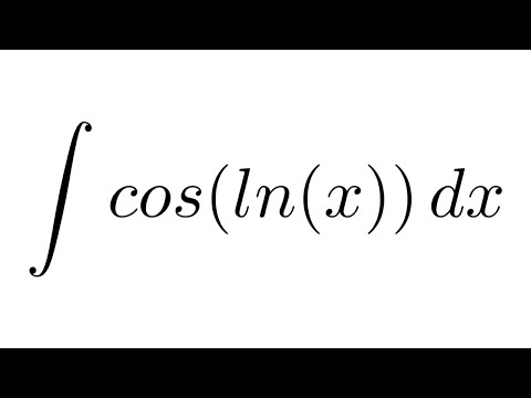 Integral of cos(ln(x)) (by parts)