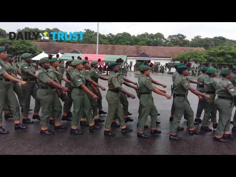 Nigerian Army: Female soldiers inter-unit silent drill