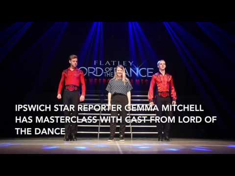 Ipswich Star reporter Gemma Mitchell has masterclass with cast from Lord of the Dance