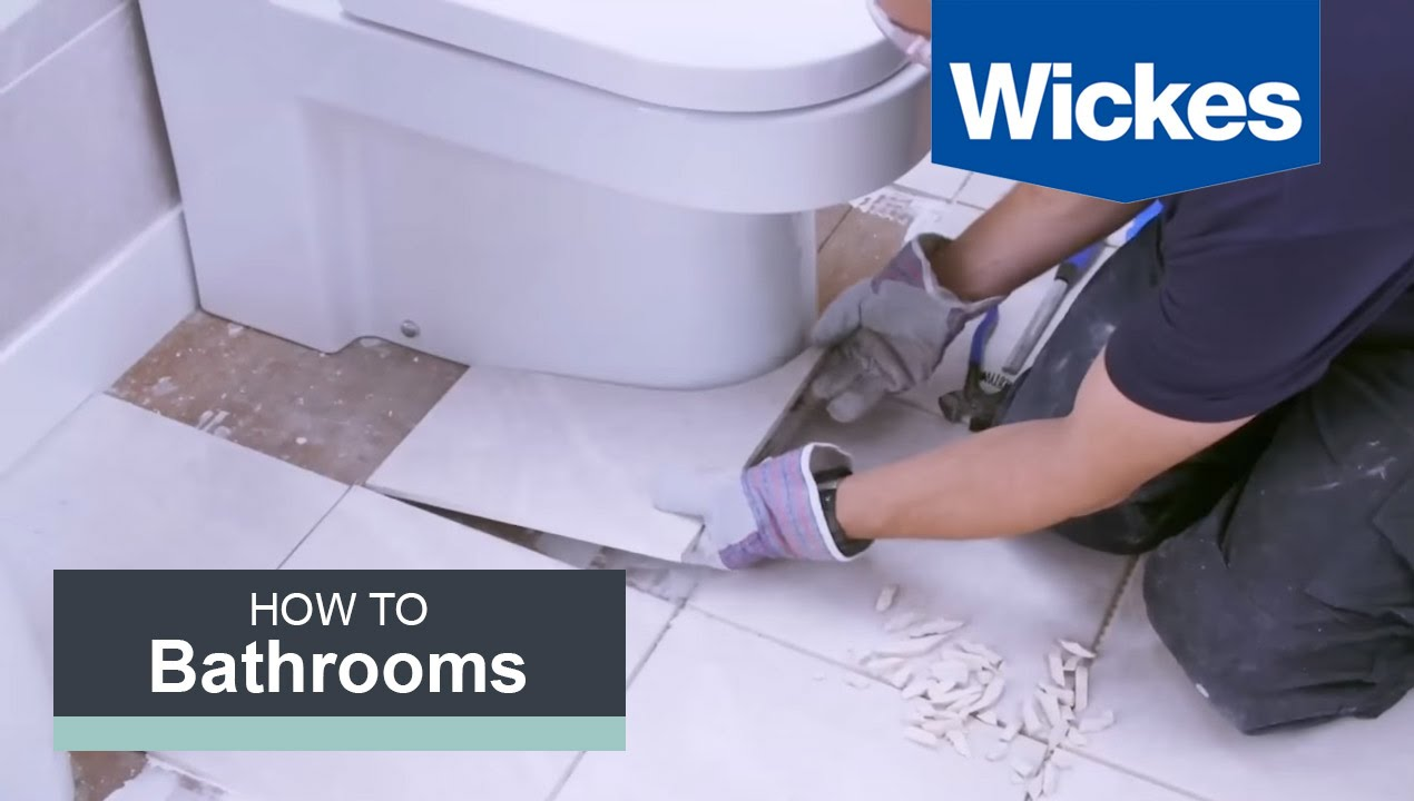 How To Tile Around A Toilet With Wickes YouTube - How to replace ceramic tile floor in the bathroom