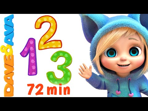 Thumbnail: Numbers and Counting Songs Collection | Nursery Rhymes and Baby Songs from Dave and Ava