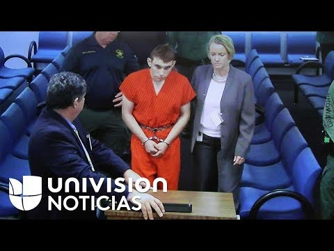 Nikolas Cruz se presenta por primera vez en corte