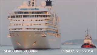 SEABOURN SOJOURN arrival at Piraeus Port