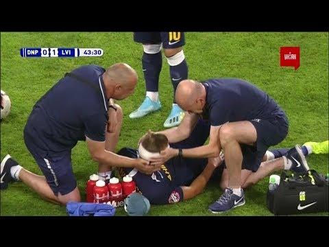 Сафронов и Педро столкнулись головами в матче Днепр-1 - Львов