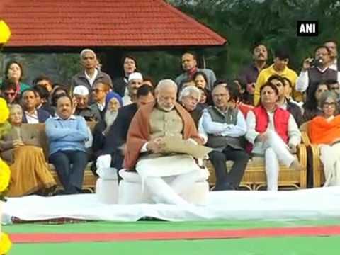 PM Modi pays tribute at Gandhi Smriti on Mahatma Gandhi's 69th death anniversary - ANI News
