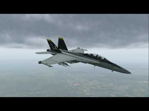X-Plane 11 - F/A-18 tour of Germany