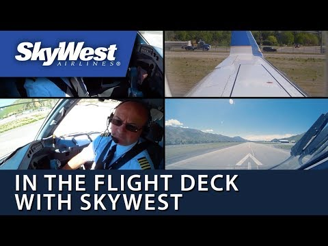 In the Flight Deck with SkyWest