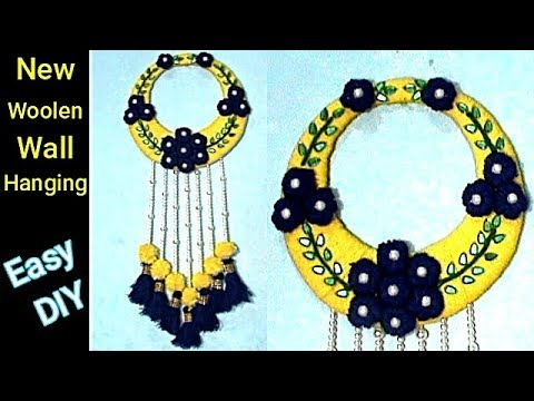 #Woolen #Wall Hanging Craft Idea | New #Wollen #Design | DIY arts and crafts | #RS crafts