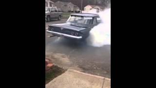 1961 Chevy Biscayne burnout part 1