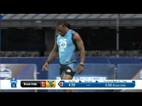 Bruce Irvin 2012 NFL Draft Combine 40 yard Run 2