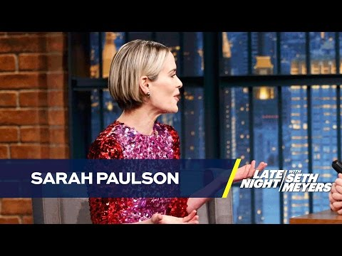 Thumbnail: Sarah Paulson Got Freaked Out by a Pilot Whispering Her Name