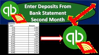 QuickBooks Online 2019-Enter Deposits From Bank Statement Second Month