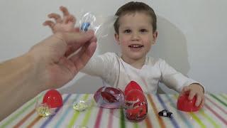 Тачки Дисней яйца с сюрпризом открываем игрушки Cars surprise eggs toys unboxing(Распаковывает пастиковыя яйца с игрушками машинками Дисней ТАЧКИ от Комфитрейд Unboxing open plastic surprise eggs Disney..., 2015-03-05T13:08:27.000Z)