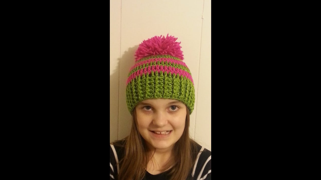 CROCHET How to #Crochet Ribbed Striped Beanie Hat #TUTORIAL #151 ...