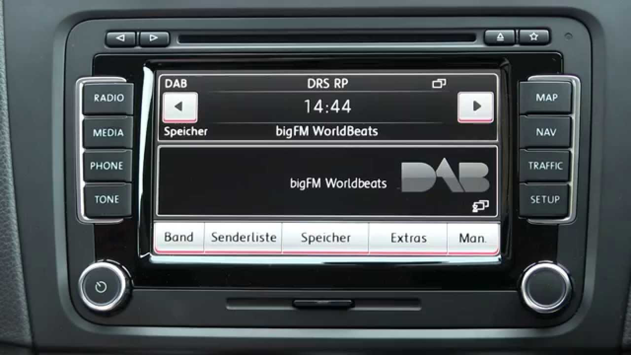 erstkontakt vw rns 510 radio mit dab und radiotext. Black Bedroom Furniture Sets. Home Design Ideas