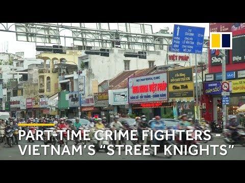 """Street knights"" hunt down crime in Vietnam"