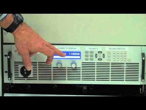 Testing a 3 phase 12 Kilowatt Solar Inverter Using a PV Simulator and IntegraVision PA