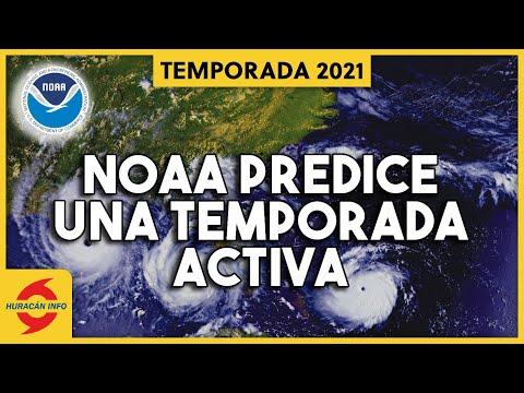 NOAA pronostica una temporada de huracanes 2021 más activa de lo normal.