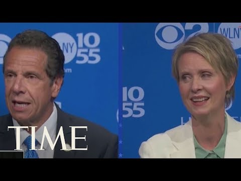 'Can You Stop Lying?' Cynthia Nixon And Gov. Andrew Cuomo Square Off In Heated Debate | TIME