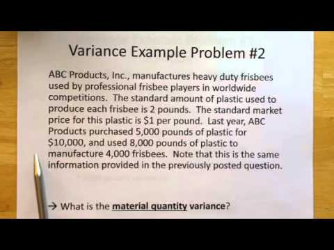 Standard Costs and Variances: Two Examples