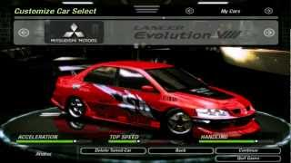 NFSU2 Graphics mod F&F Cars HD