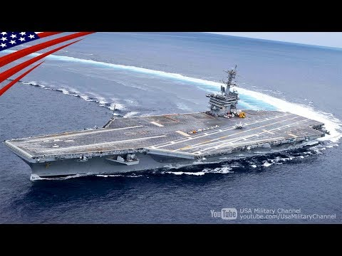 Amazing High-Speed Turns by U.S. Navy Aircraft Carrier [Drifting!?]