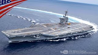 Amazing High Speed Turns By U.S. Navy Aircraft Carrier [Drifting!?]