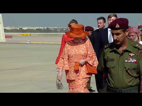 Staatsbezoek Oman dl2 koningin Beatrix⁄ State visit Oman Queen Beatrix