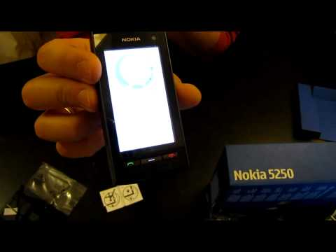 Обзор Nokia 5250 review MENU and Features HD