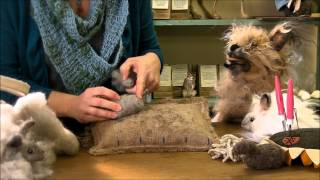 Needle Felting Instruction:  Bunny Puff Episode 1, Body Head and Legs by Sarafina Fiber Art