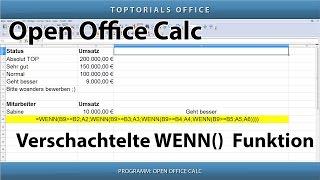 Verschachtelte WENN() Funktion ganz einfach (OpenOffice Calc)