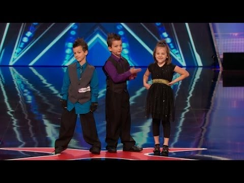 America's Got Talent S09E02 Dom the Bom's Triple Threat Card Throwing 8 Year Old