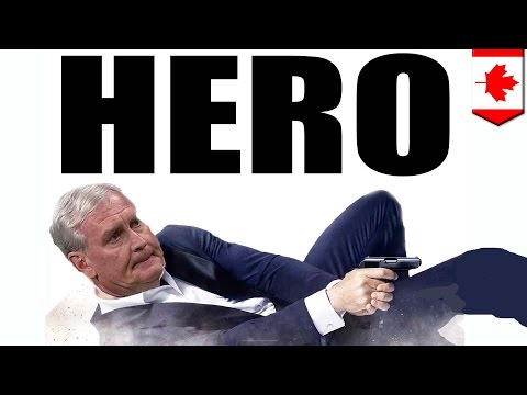 Sergeant-at-arms Kevin Vickers took out parliament shooter in Hollywood-style movie scene