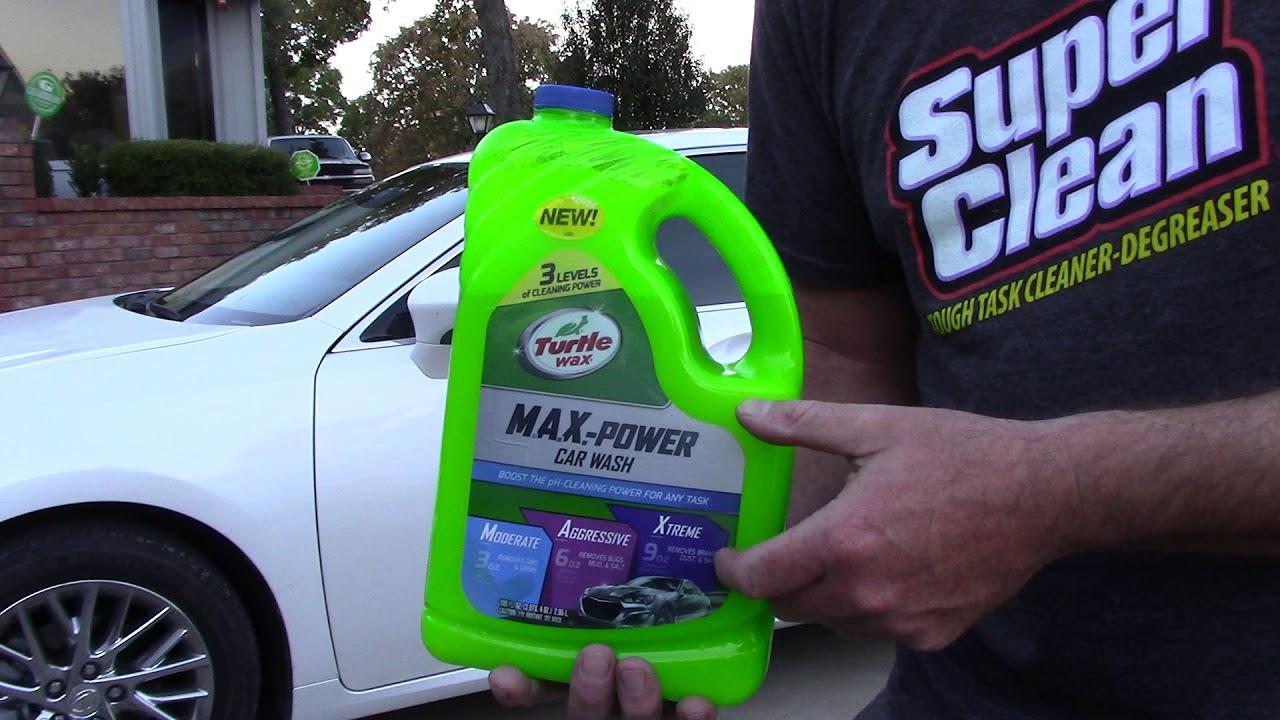 Turtle Wax Max Power Car Wash Can It Strip Wax Or Sealant Youtube