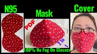 237 How To Make Your Own N95 Face Mask Cover Can Be Wear 2 Ways Easy Step By Step The Twins Day