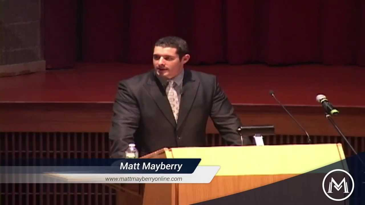 Motivational Keynote Speaker Matt Mayberry - YouTube