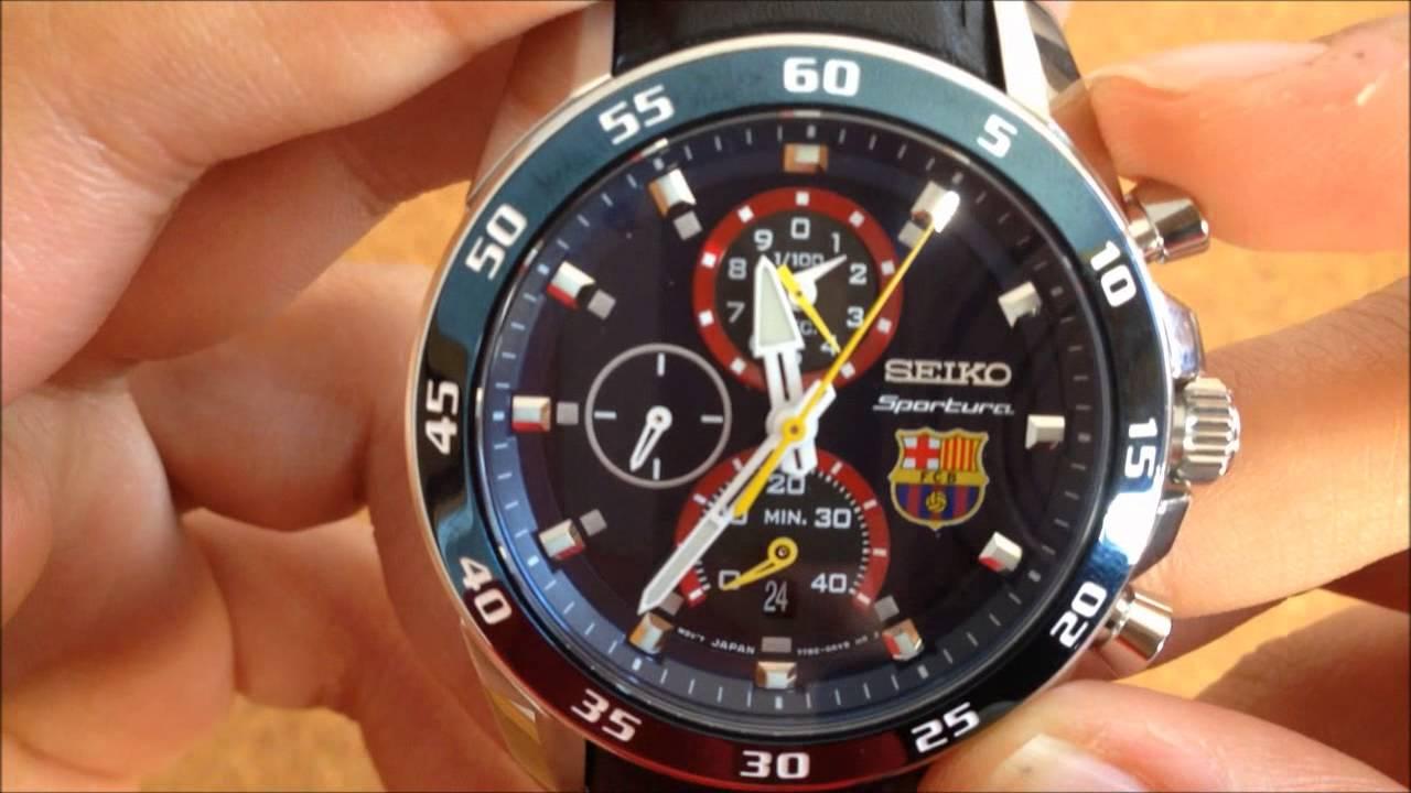 Reloj Seiko Sportura Chronograph edición especial F.C. Barcelona Spc089p1 -  YouTube 15f68fd6f7f