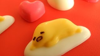 "Sanrio online shop ""Gudetama chocolate kit"" 918yen ""egg case"" 540ye..."