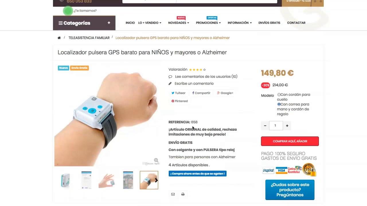Víspera de Todos los Santos Darse prisa trono  Relojes de pulsera GPS Alzheimer y Ancianos - MovilTecno.com - YouTube