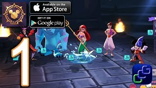 Disney Sorcerer's Arena Android iOS Walkthrough - Gameplay Part 1 - Grand Campaign: Ch1