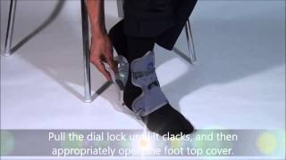 Ankle Foot Orthosis (AFO) for foot drop, How to wear?