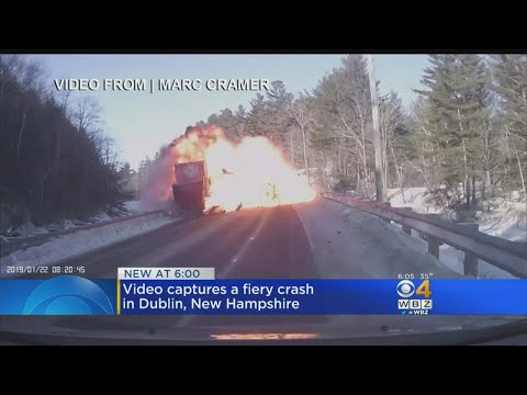 Video Captures Fiery Crash In Dublin, NH - YouTube