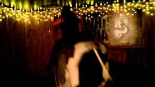 Linda on a bull ride