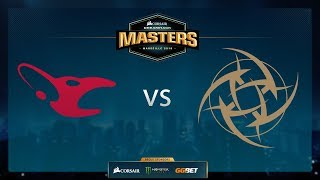 NiP vs Mousesports - Train - Group Stage - Dreamhack Marseille 2018