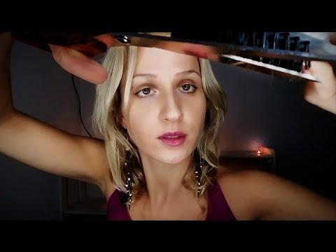 ✂ ASMR HAIRCUT Roleplay ❣ Scissors, Spraying, Brushing, Styling