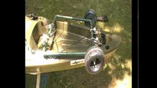 Ascend FS12T Sit On Top Kayak Review & Rigging Part 7 - Kayak Cart