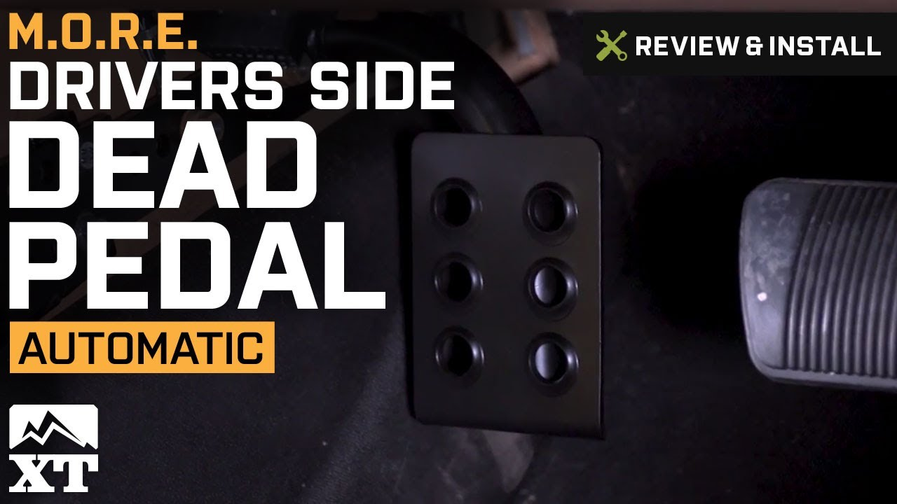 small resolution of jeep wrangler m o r e drivers side dead pedal 2007 2017 jk review install