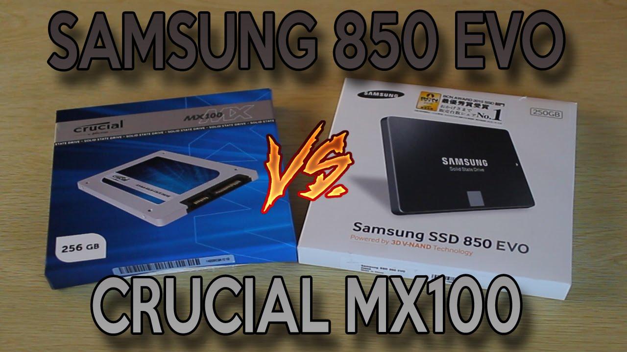 Samsung 850 EVO Review (250GB) & Comparison Vs Crucial MX100 (256GB)
