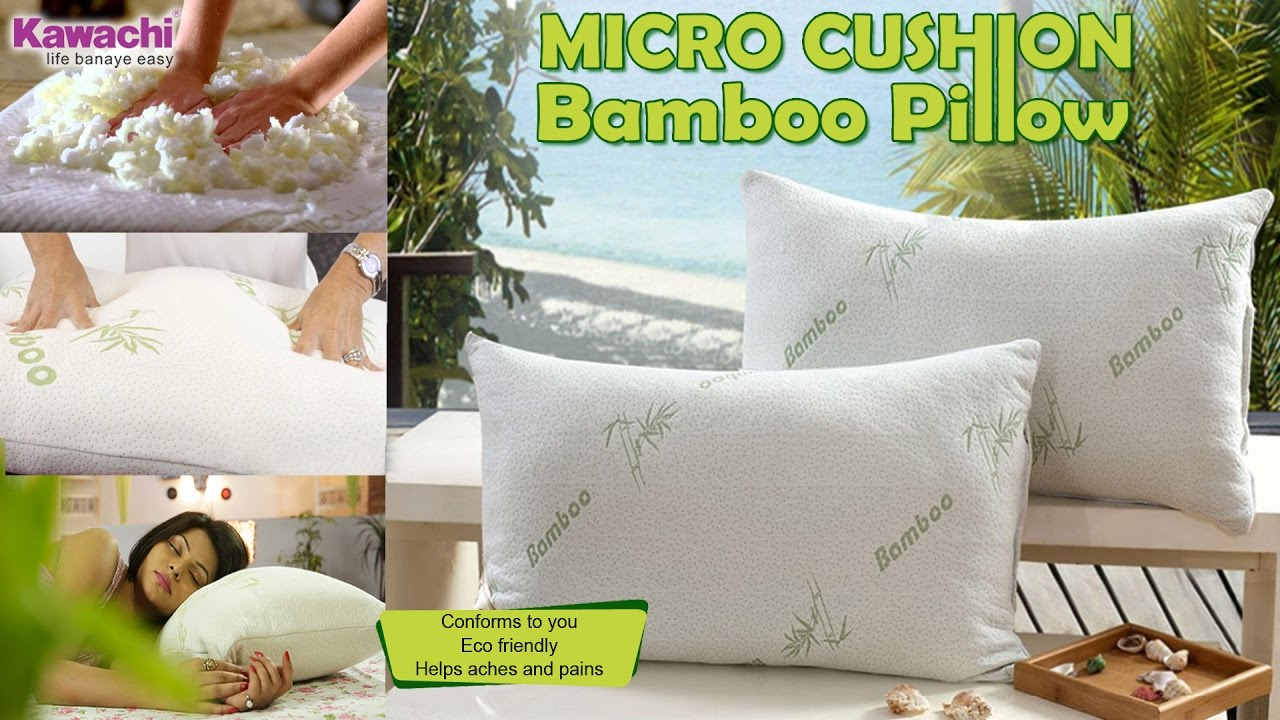 kawachi shredded pillow with miracle bamboo memory foam cove
